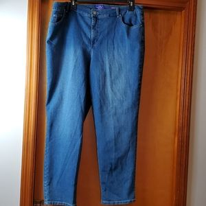 NWOT Just My Size blue jeans, size 24W